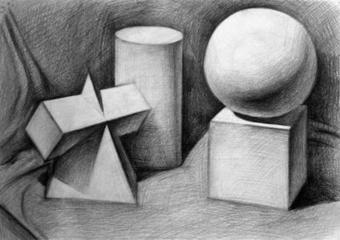 素描几何图形图片