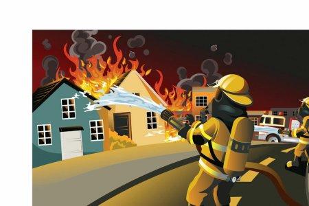 明天要出手抄报,谁能给我几张消防员逆行的漫画图片?