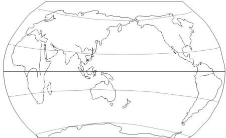 求没有注地名的世界地图