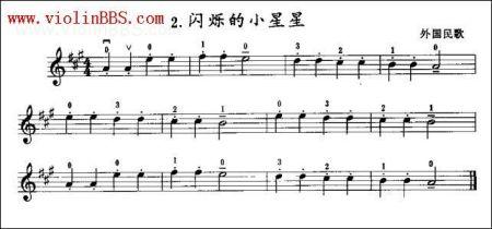 请问小提琴怎么看谱!图片