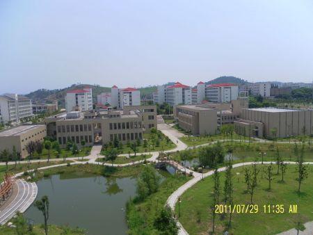 安徽工业大学东校区鸟瞰图 画的都行图片