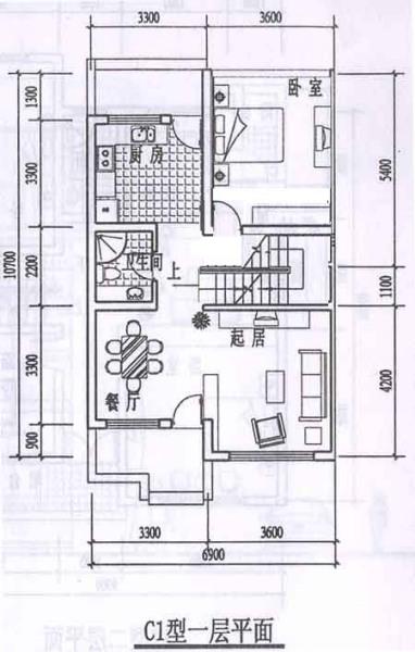 11米宽(路边),8米深,房屋设计图.图片