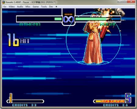 拳皇2002风云再起雅典娜大招电脑版的图片-拳皇2002出招表图片