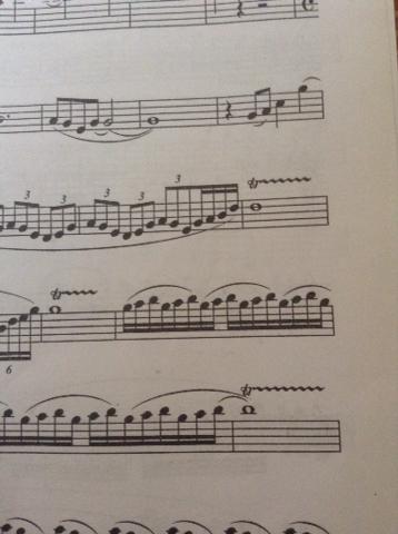 这是萨克斯的谱子,这三个打音怎么吹啊!非常急!图片