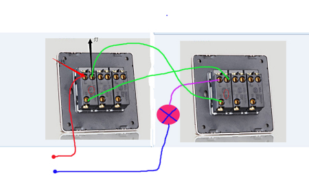 3控开关接线实物图 单控开关接线实物图 双控开关接线实物图图片