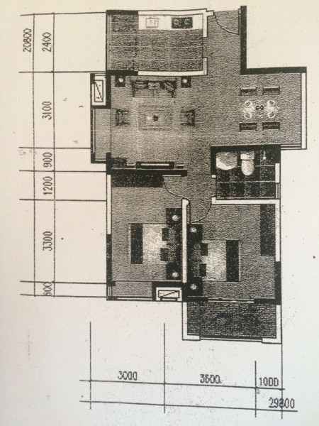 两室两厅房屋装修求设计图