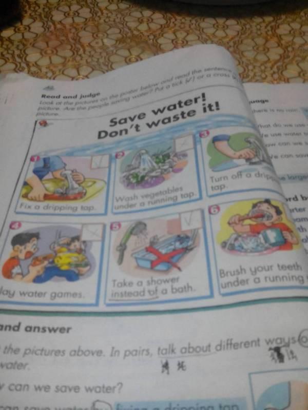 六种节约用水方法的英语,要六年级学过得简单的,图片上的不算