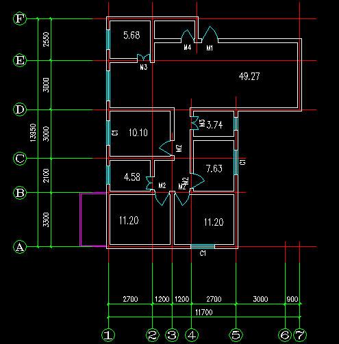 求个120平米住宅CAD图