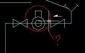 中画圈的消防与排水图例符号求解