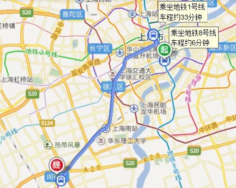 上海8号线地铁线路图陆嘉浜路,到航天博物馆下图片