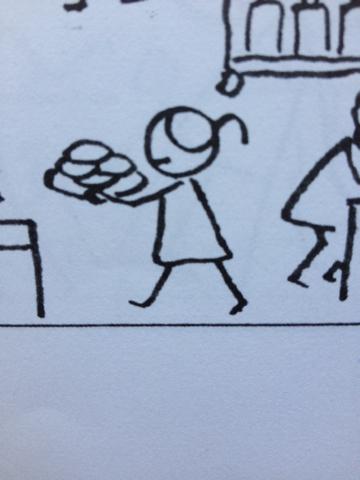 简笔画:一个女孩的侧面
