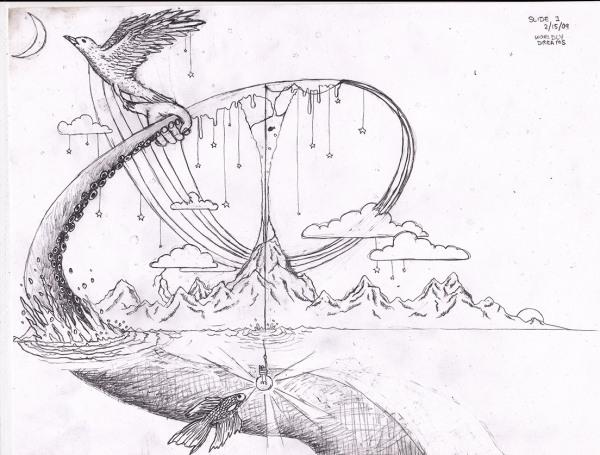 """求关于""""梦""""的创意设计素描图片图片"""
