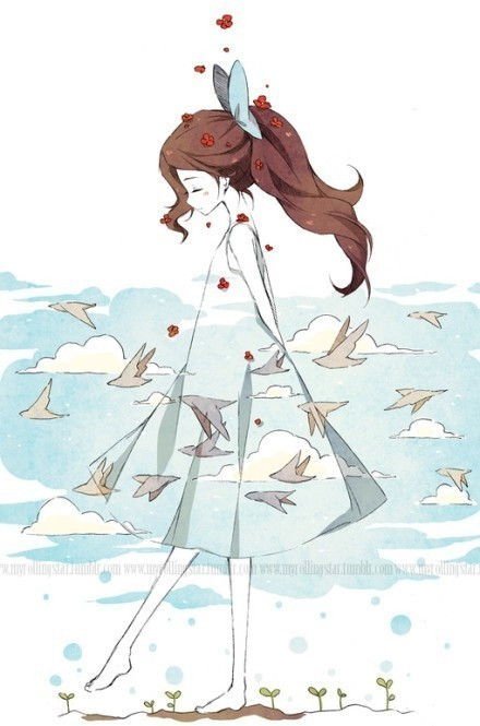 求放飞梦想,最好有在放纸飞机,放飞鸽子啊,什么的动漫图,图片