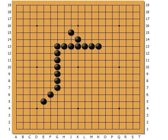 用围棋棋子按照某种规律摆成的一行广子图片