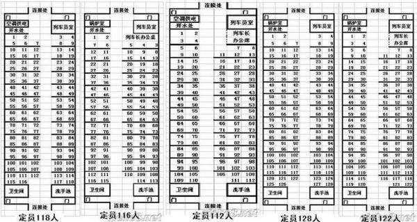 k字头火车座位分布图高清图片