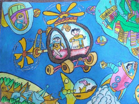 小学四年级科幻画怎么画
