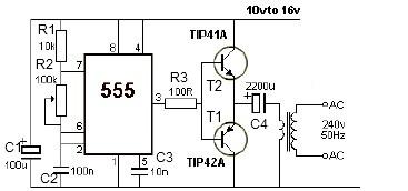 12伏转220伏逆变器原理图加解释 Ǚ�度知道
