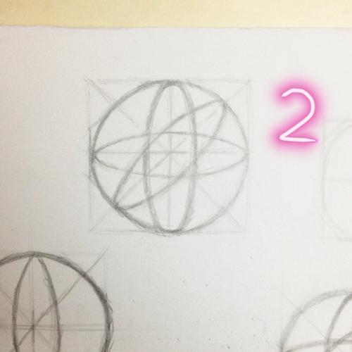 画结构球体,需要注意哪些地方 切圆好难啊 1 2是第一天画的 3 4是今图片