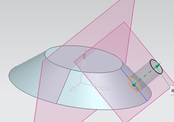 UG8.0圆柱斜面上孔的阵列怎么弄啊上面是圆柱,想在图中红色的斜面图片