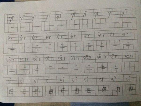 汉字一到十怎么在田字格中占格还有笔画顺序 要具体的哦