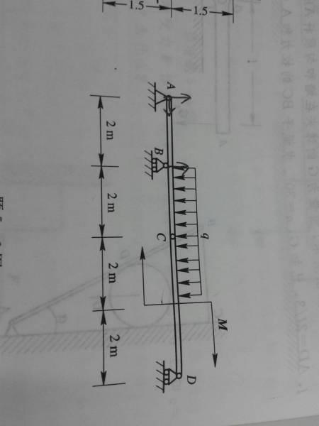 不�z`d�!�m�z)�ynl�.�9.b_已知均布载荷强度q=10kn/m,力偶矩m=40kn·m,不计梁重.