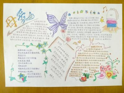 小学四年级语文手抄报关于爱图片