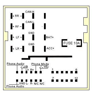09福克斯cd机接线说明和前面板使用说明 高清图片