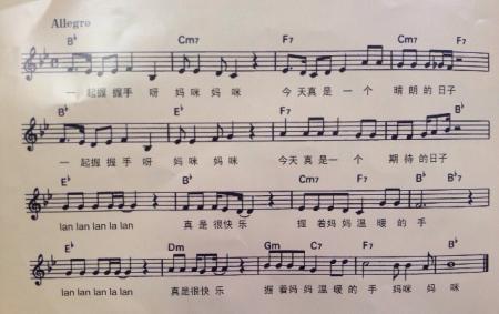 钢琴谱子数字简单分享展示图片