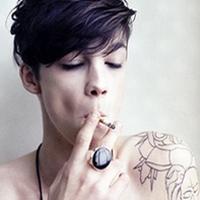 qq头像带纹身霸气男生图片