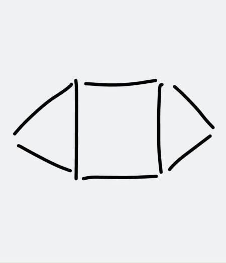 如何用八根火柴摆一个正方形和两个三角形?图片