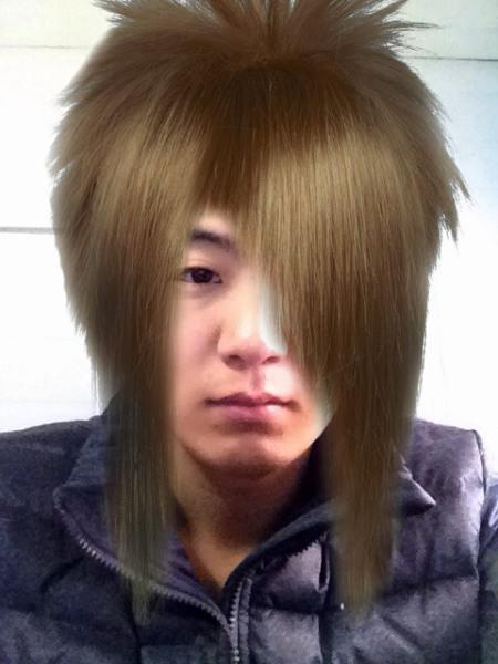 谁能给我ps一张杀马特发型 要逼真的图片