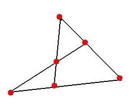 将7枚棋子摆成6行图片