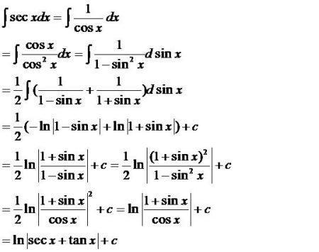 大学数学不定积分问题:怎么推导?说是由基本积分公式.图片