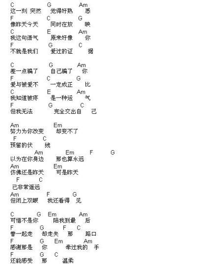曹轩斌可惜不是你吉他谱简单版图片