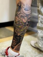 艺妓龙纹身手稿 - 中国纹画·_纹身图案图片