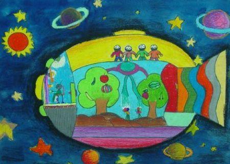 走进小学儿童画-小学校园简笔画,小学生图画大全一等奖,小学生儿童画