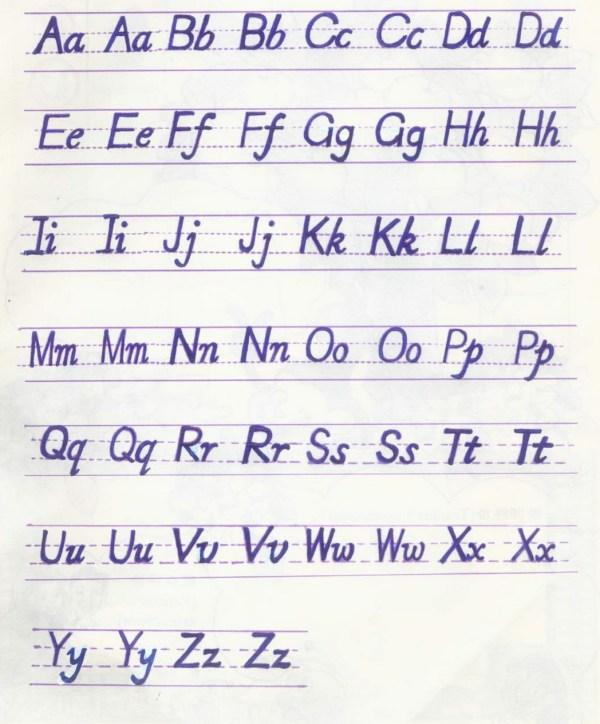 26个字母及大小写的正确占格,正确书写形式.图片